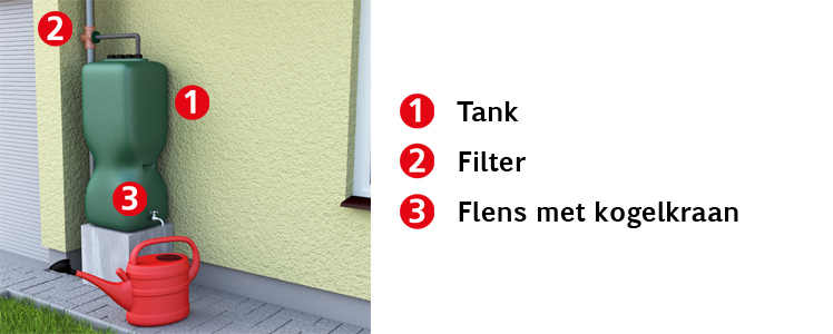 Tuinregenwatertank 750 l